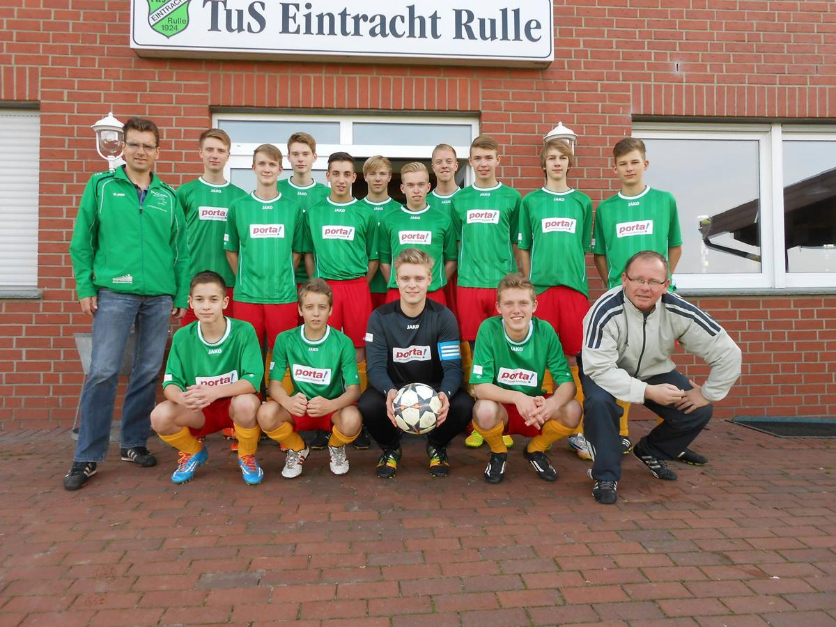 Fussball B-Jugendmannschaft 2015