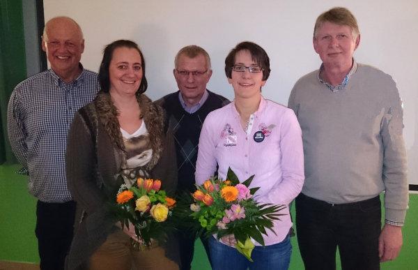 Die Abteilungsleitung 2015 - v.l.n.r.: Wilhelm Buhl (Abteilungsleiter), Sonja Schievink (Stellv. Kassiererin), Karl-Heinz Schlüter (Sport- und Jugendwart), Ilona Wöstmann (Kassiererin), Klaus Borgelt (Stellv. Abteilungsleiter)