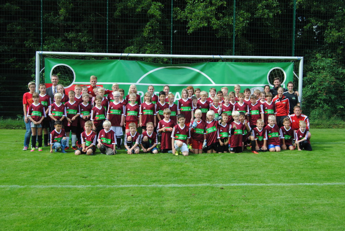 Teilnehmer Knax-Fußballschule in Rulle