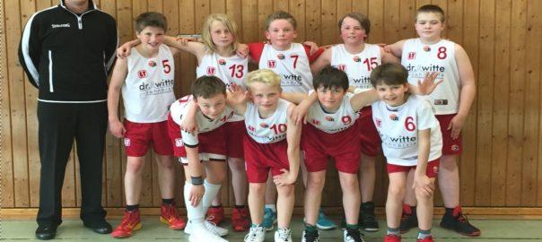 Mannschaftsfoto Basketball U-12 TuS Eintracht Rulle